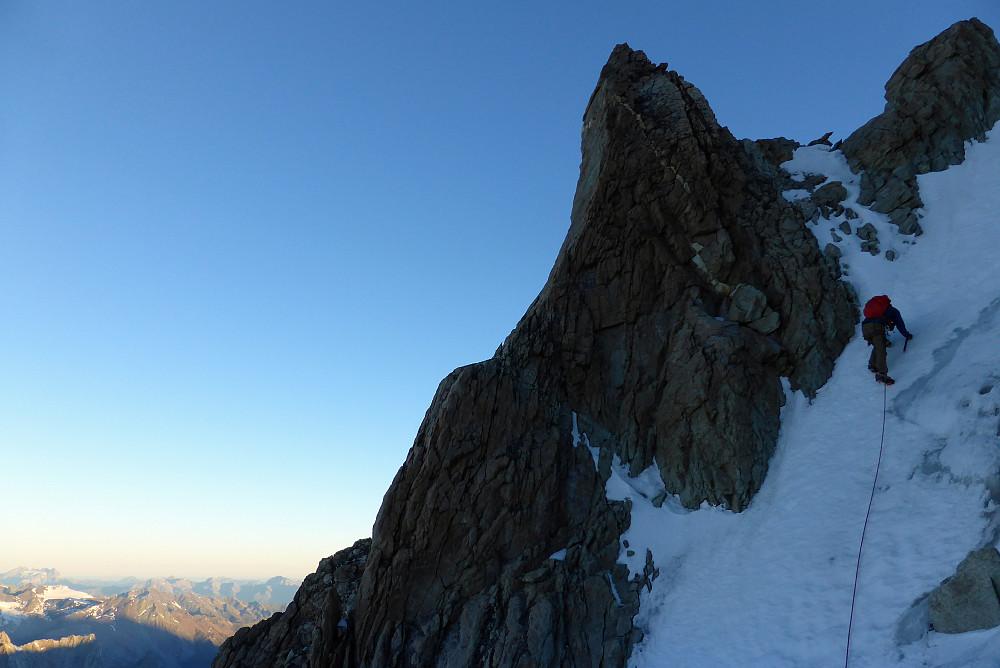 Climbing said gully :)