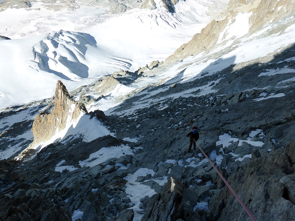 One abseil down the gully