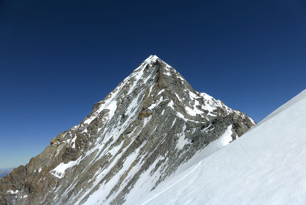 View of the Dent Blanche from the snow traverse