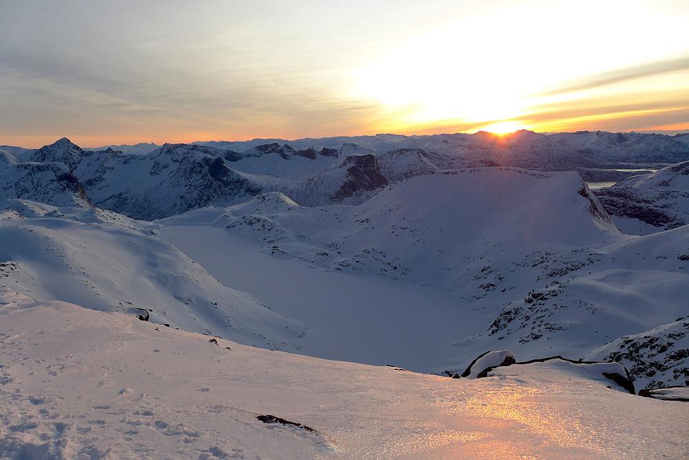 Solnedgang på Roalden