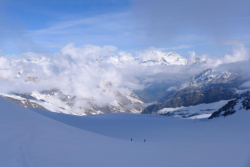 Flott skiføre på Mellichbreen