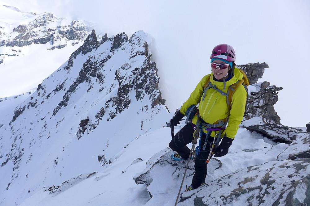 På toppen av Rimpfischhorn!