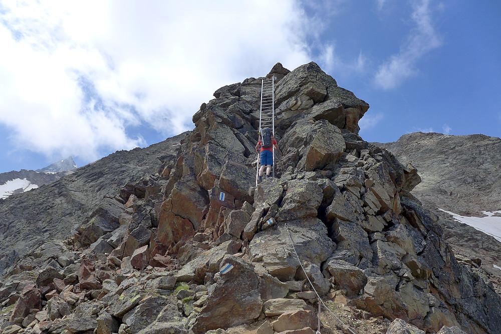 Via ferrata type adventure trail