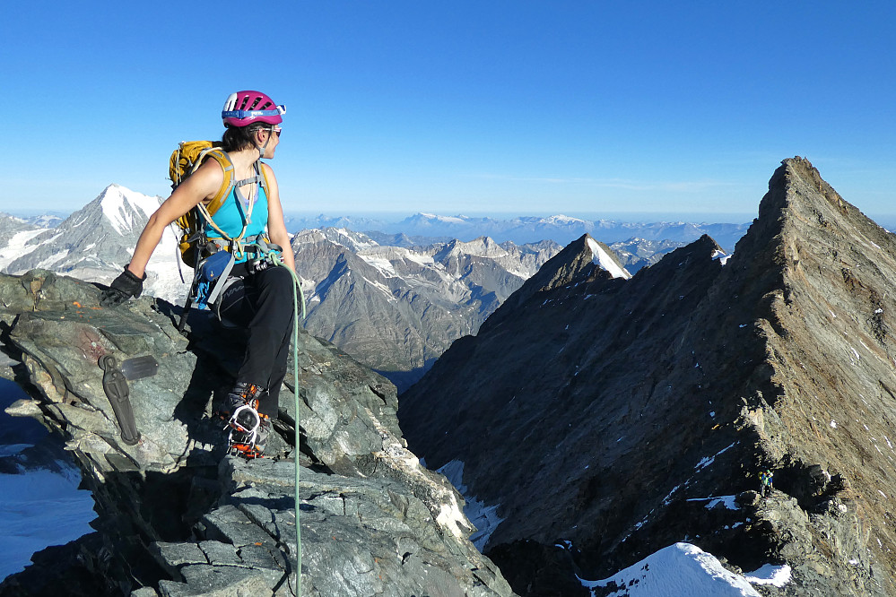 More posing on the Lenzspitze (photo by Tim Neill)