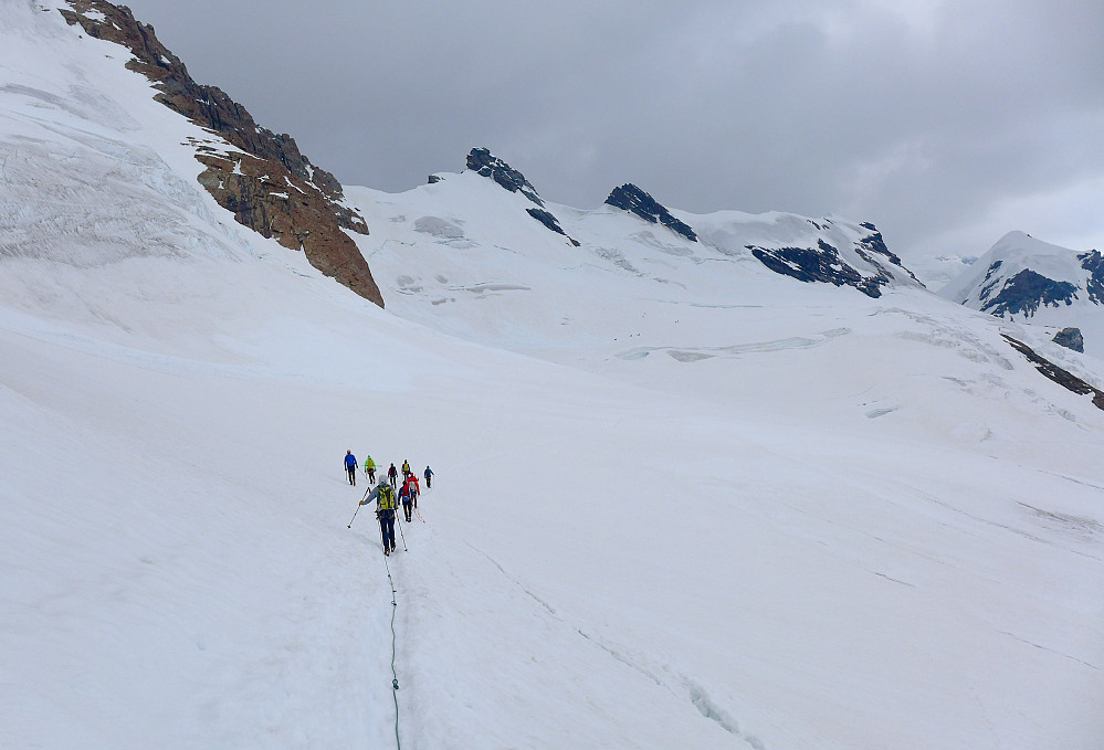 The short walk in to the start of the route