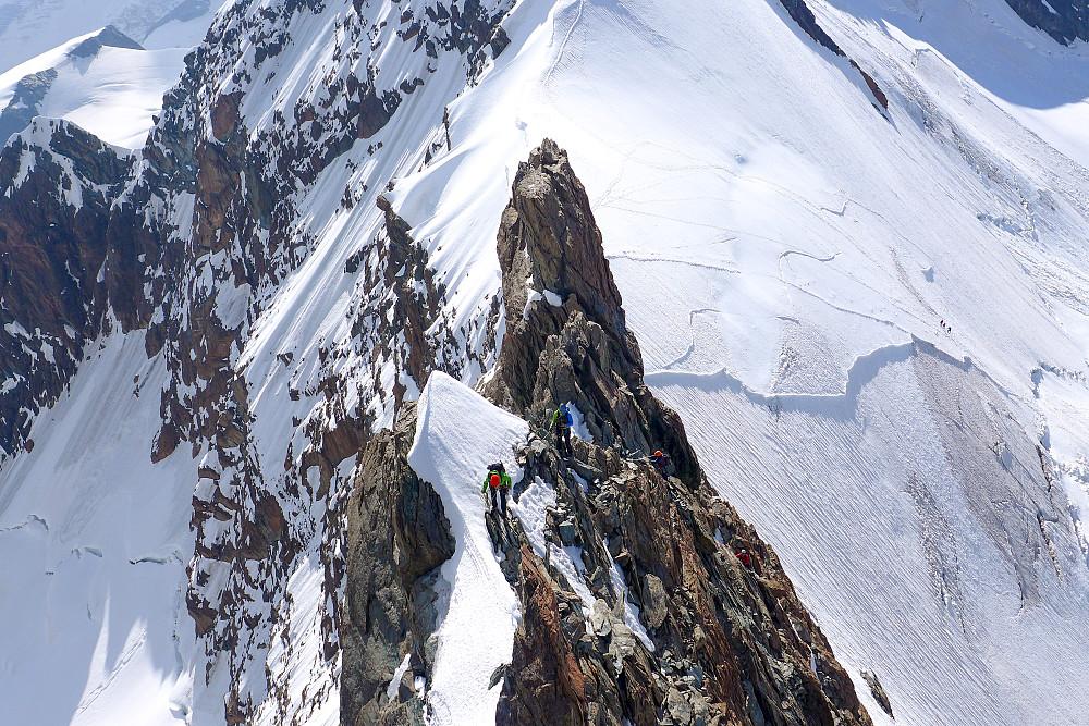 Two climbers on the ridge