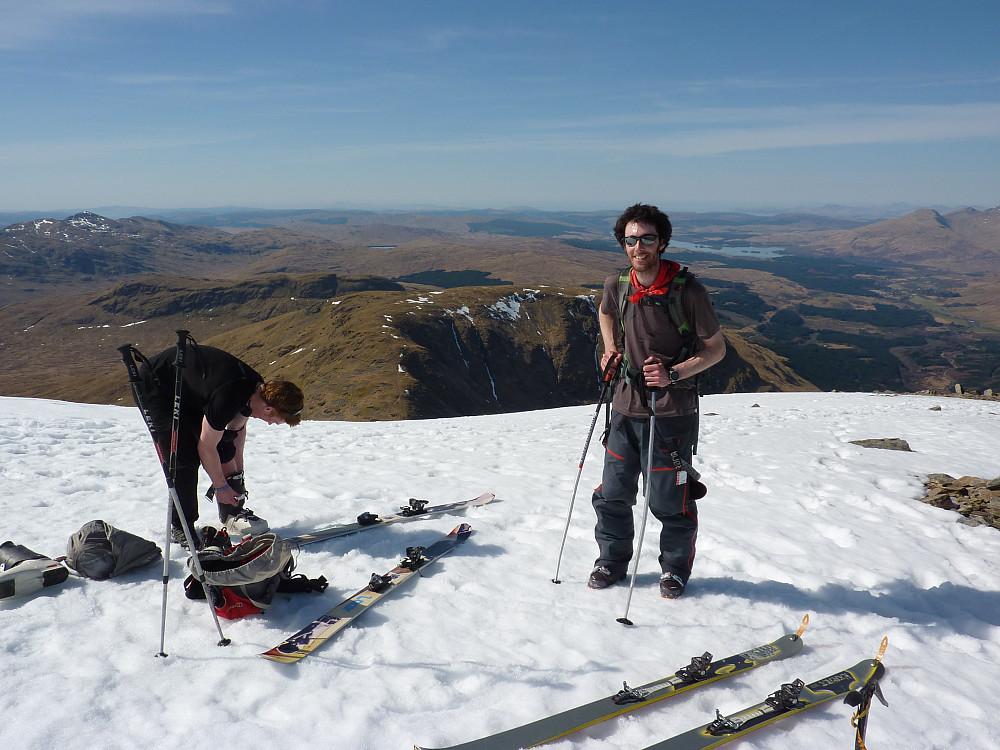 Skiers from Edinburgh
