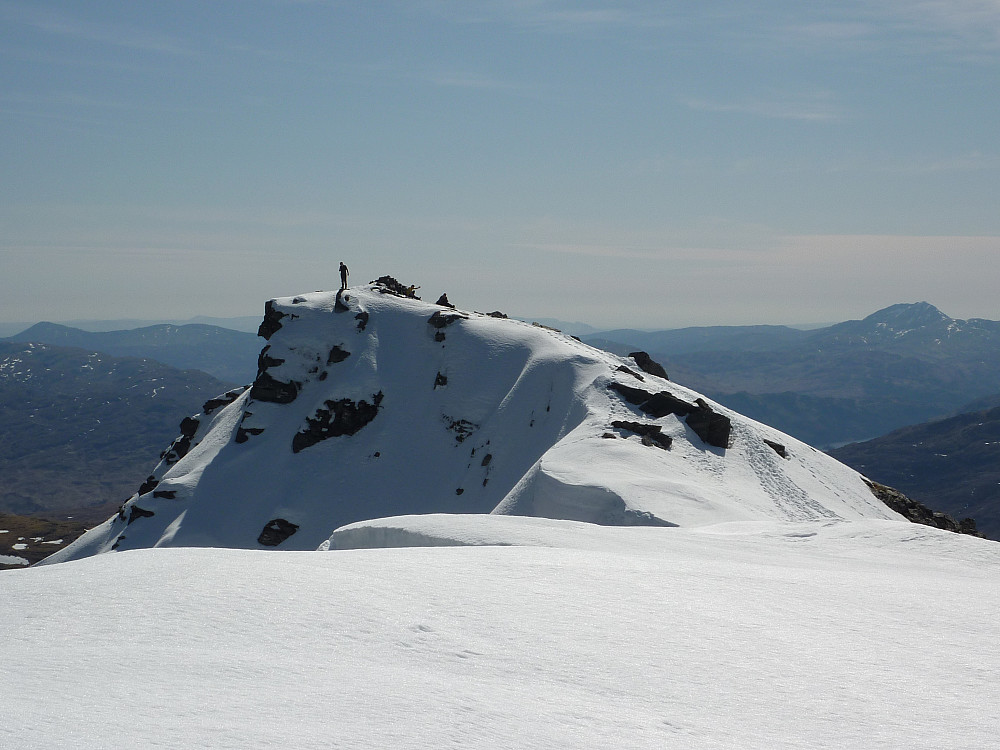 View of the summit from the north