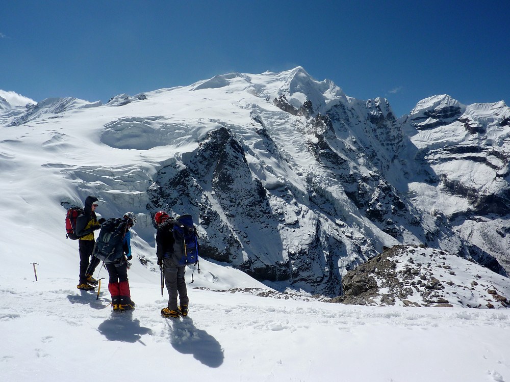 At the col above base camp