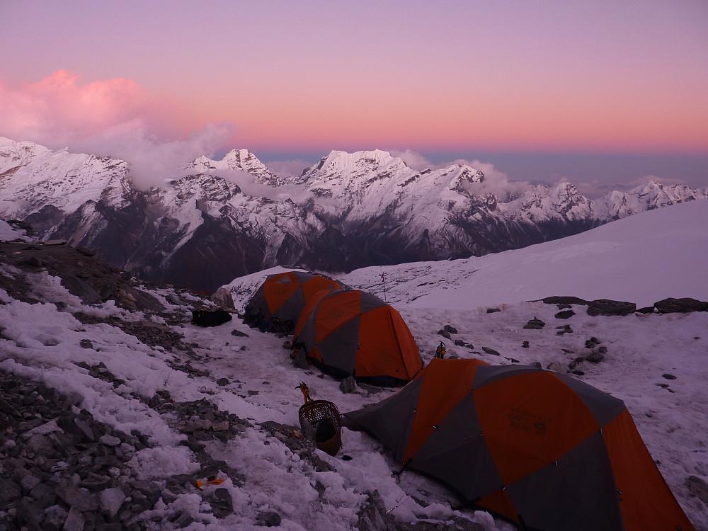 Mera high camp. Gorgeous sunset to enjoy before going to sleep!