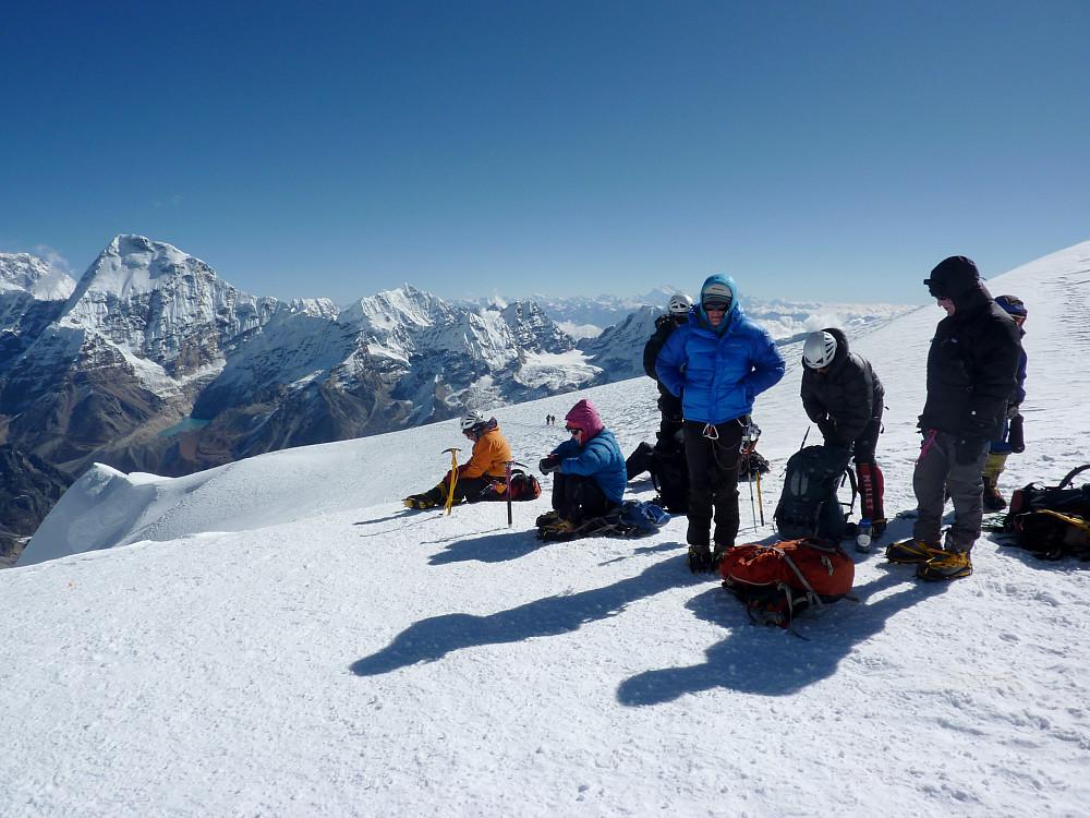 Last break before the summit