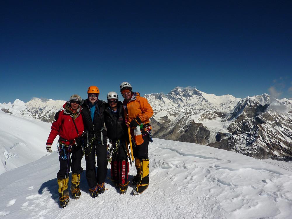 Dawa sherpa, me, Matt and Gordon