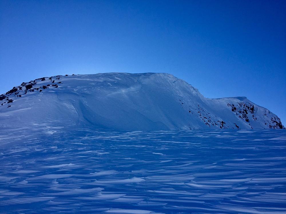 Jeg gikk så over vestryggen av Snaufjellet der det ble litt knoting for å komme seg ned i form av rusjing på ræva siste delen :-)
