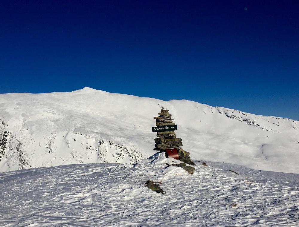 Geitenibba som sikkert ikke er like populær skitopp som nabotoppen Næremstinden hvor det var tett med skispor
