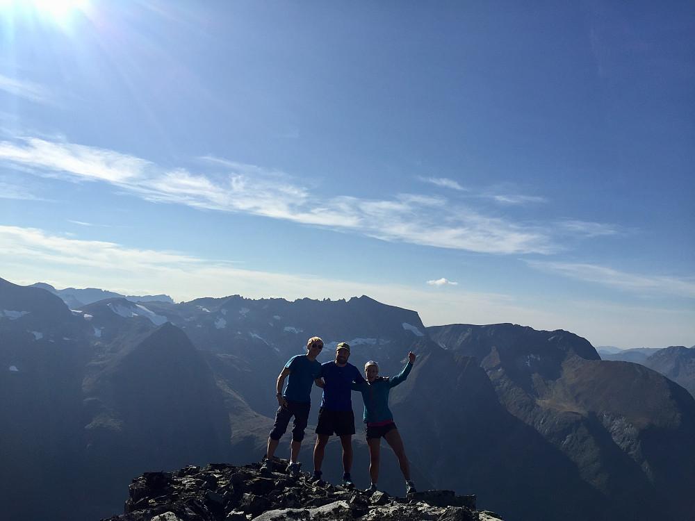 Frode, Ragnar og meg på vesttoppen