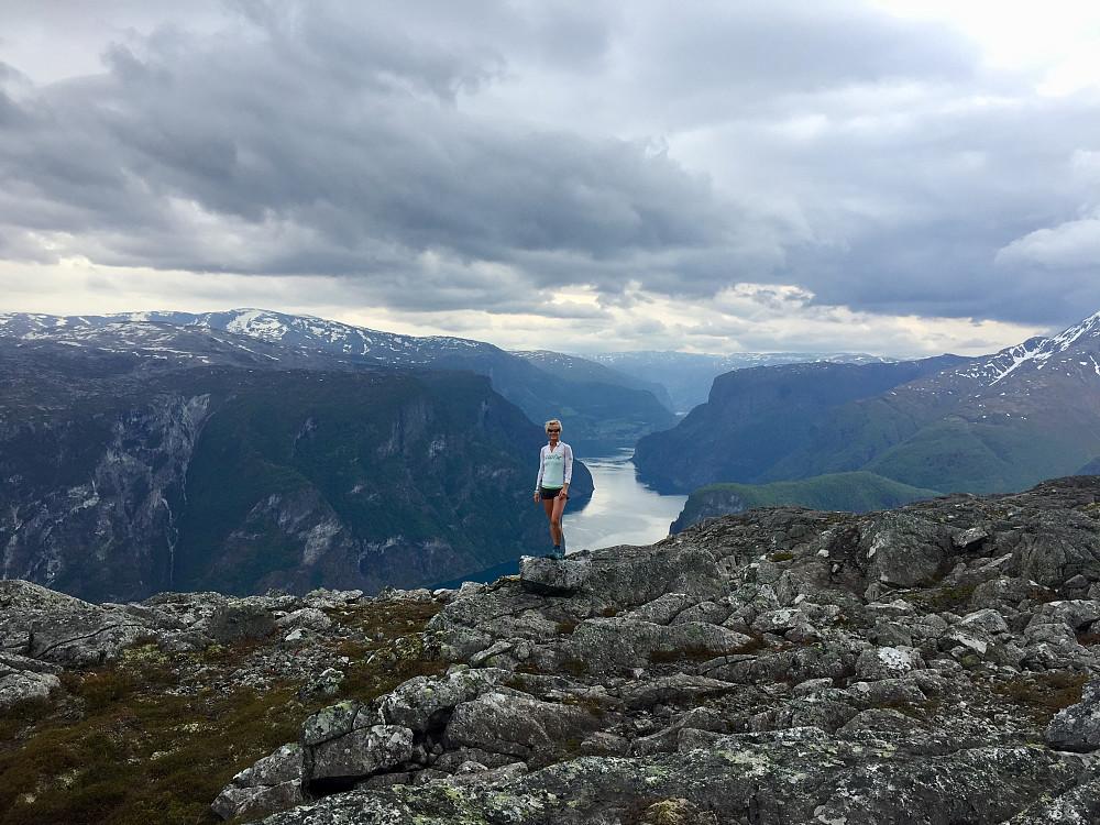 Lægdafjellet mot Nærøyfjorden og Aurlandsfjorden