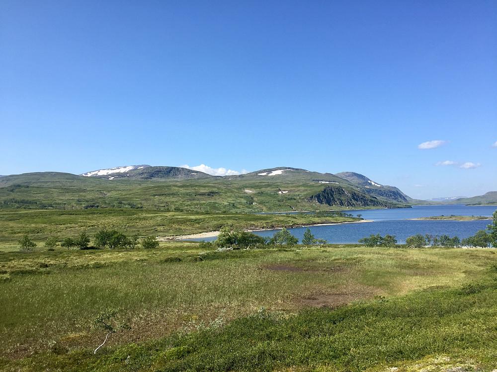 Finnkoisjøen som ligger på ca 760 moh