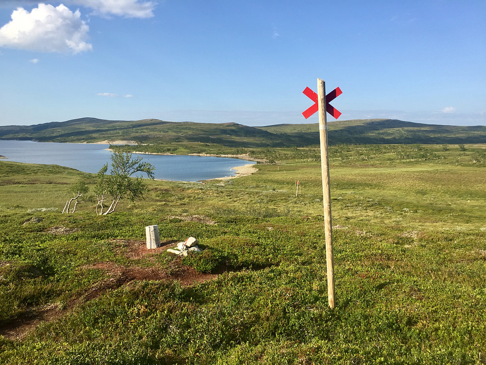 Vintermerka ruten langs med Finnkoisjøen
