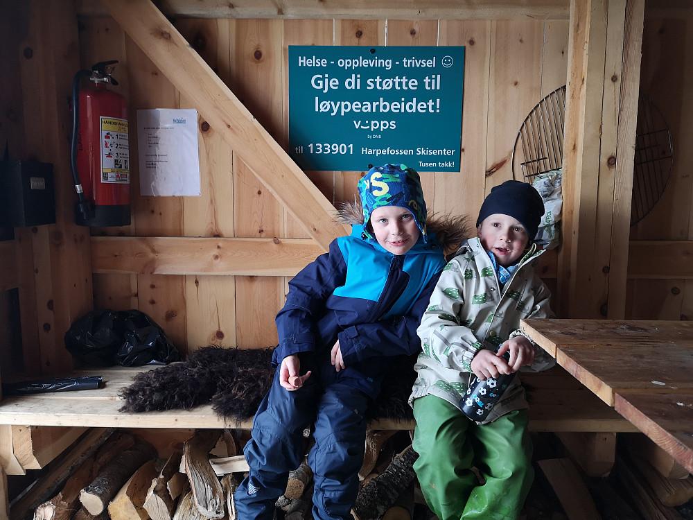 Fin rasteplass i grillhytta på Sevlandssætra