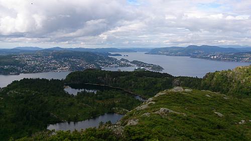 View north from Skjenafjellet