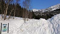 Trailhead in Jordalen