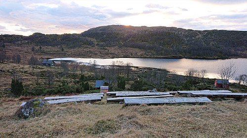 Gjerstadstølen with Singelstadfjellet in the backround