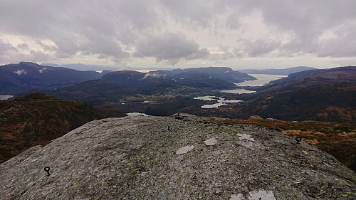 The remains of the trig marker at hill 806 at Våkefjellet