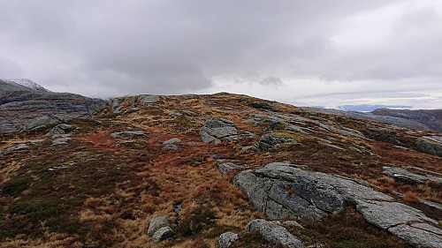 Approaching the summit of Våkefjellet