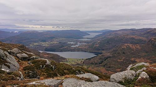 Towards Eikelandsosen from the descent