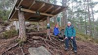 The wooden shelter at Baståsen