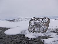Toppsteinen like før Merraskardfjellet.