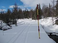 Bommen er åpen for ski og scooter