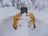 Mye snø på grensen