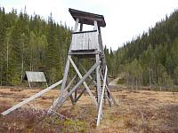 Jakttårn like før Bergvatnet