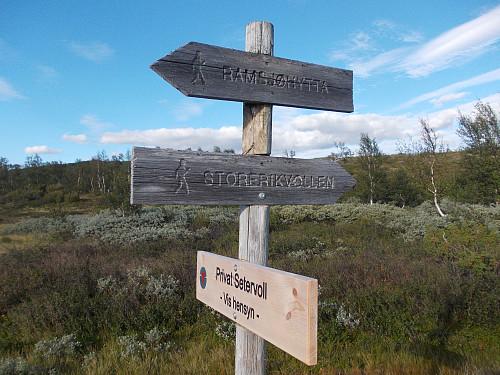 Skilting Ramsjøhytta/Storerikvollen