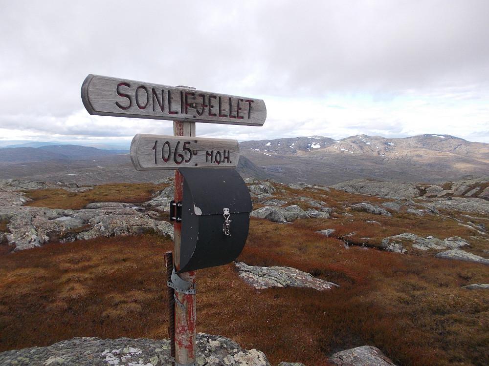 Toppen av Sonlifjellet