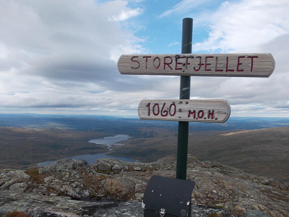 Toppen av Storefjellet