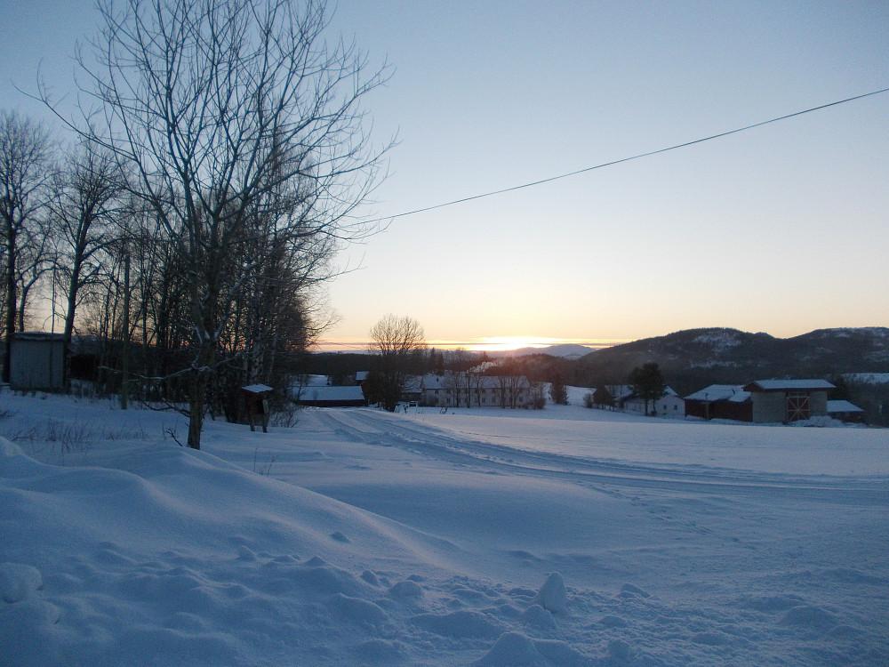 Solnedgang ved Dorrås