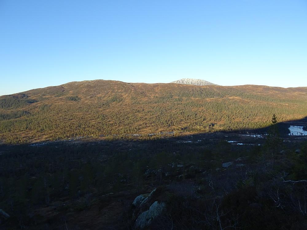 Tilbakeblikk på Rognbuklumen sett fra oppstigningen til Geitingfjellet