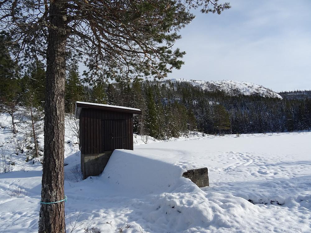 Våttåheia sett fra dammen ved Rossetvatnet