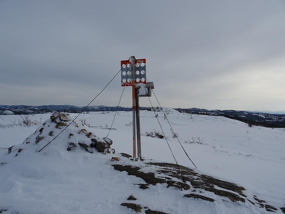 Trigpunktet på Våttåheia (397 moh) (Ikke høyeste punkt)
