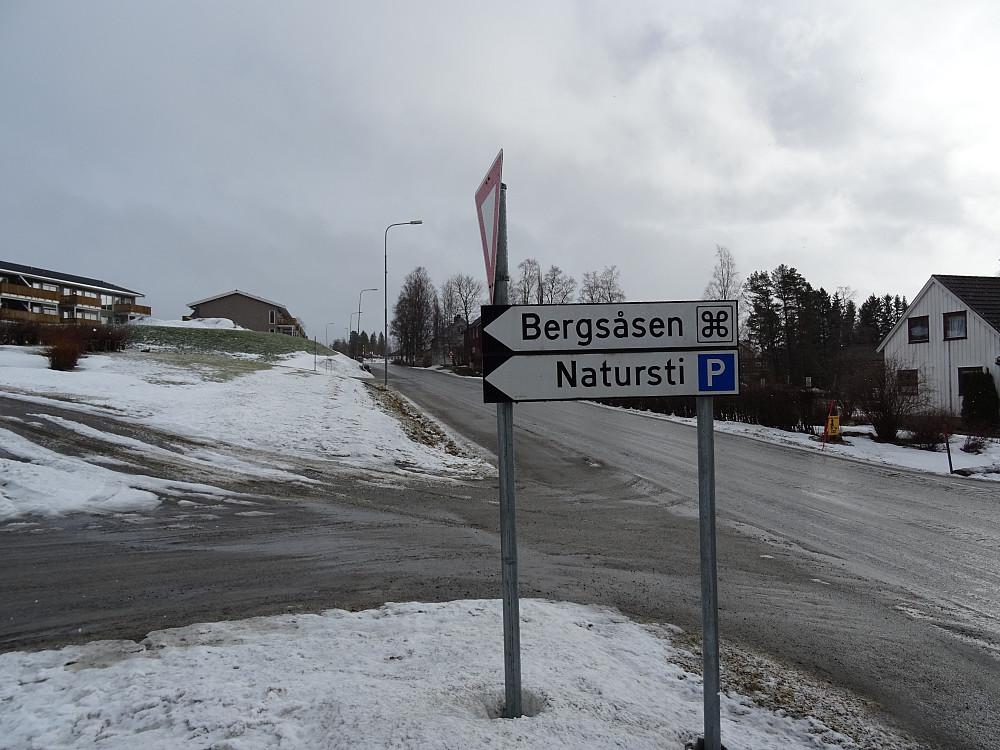 Godt skiltet like før Snåsa sentrum