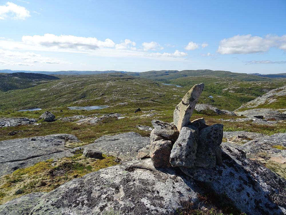 Høyeste punkt på Jektheia (fjellryggen)
