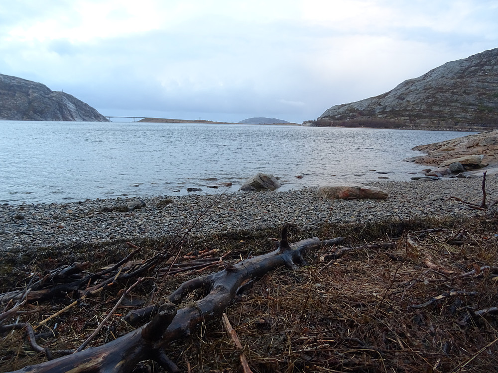 Ei lta strand på vestsiden av Forøya