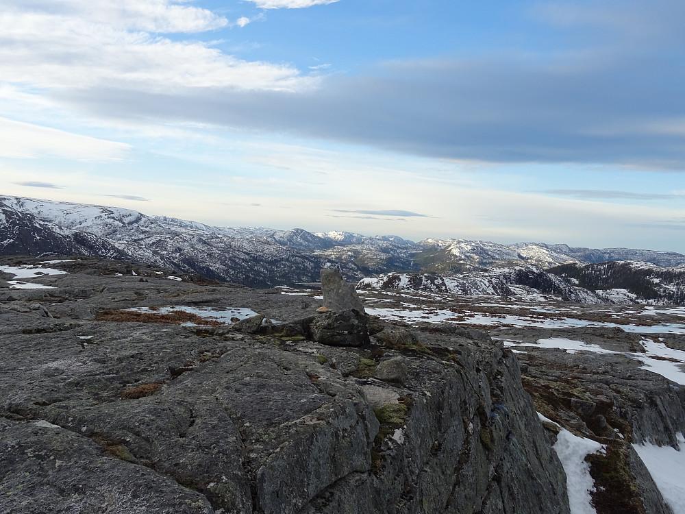 Toppvarden på Havfrulifjellet, sannsynligvis høyeste punkt.