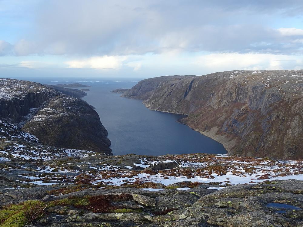Fjorden Vingan sett fra Månskjennheia