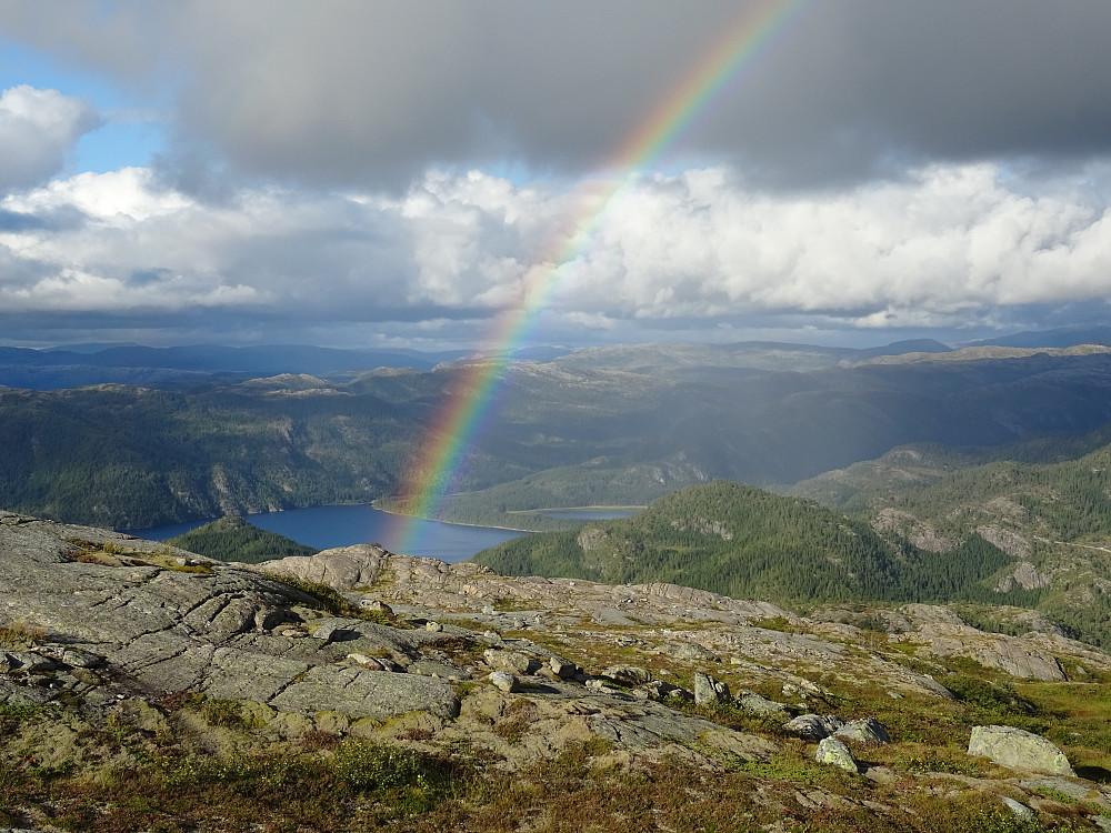 Regnbue over Salvatnet