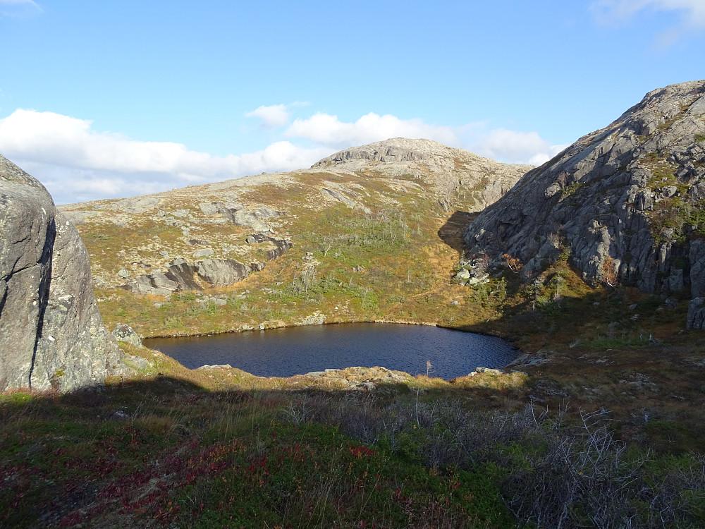 Vann 340 like før toppen av Kvernvassfjellet