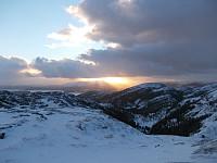 Utsikt fra Stuvfjellet mot Dummolfjellet