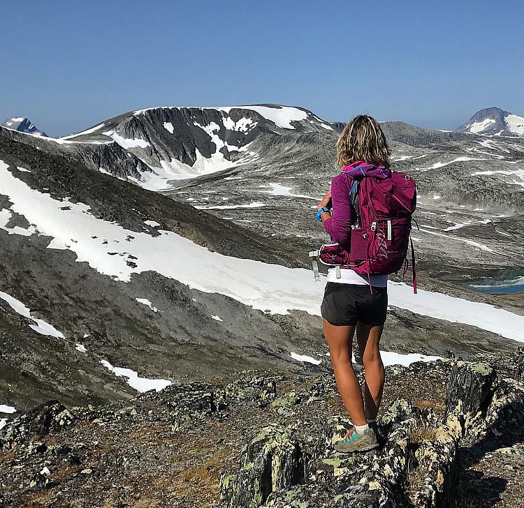 Søndre topp på Hemre Gjevillvasskammen. Neådalssnota, Storlifjellet & Snota
